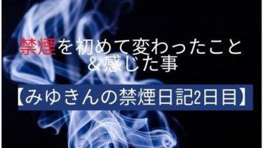 禁煙を初めて変わったこと&感じた事【みゆきんの禁煙日記2日目】