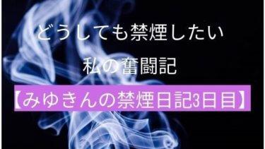 どうしても禁煙したい私の奮闘記【みゆきんの禁煙日記3日目】