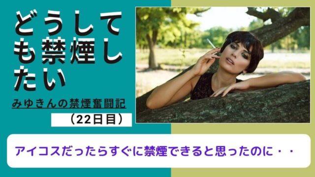 禁煙奮闘記22日目