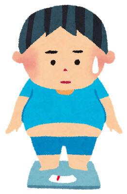 肥満の男性イラスト画像
