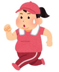 ダイエットのためにジョギングをする女性