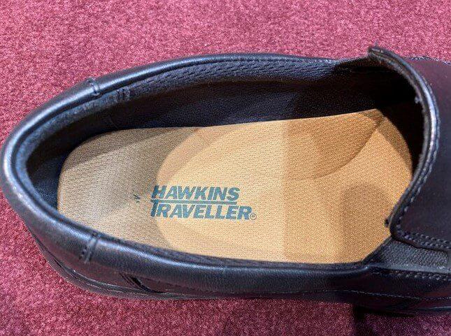 仕事場で撮影した靴の中敷き