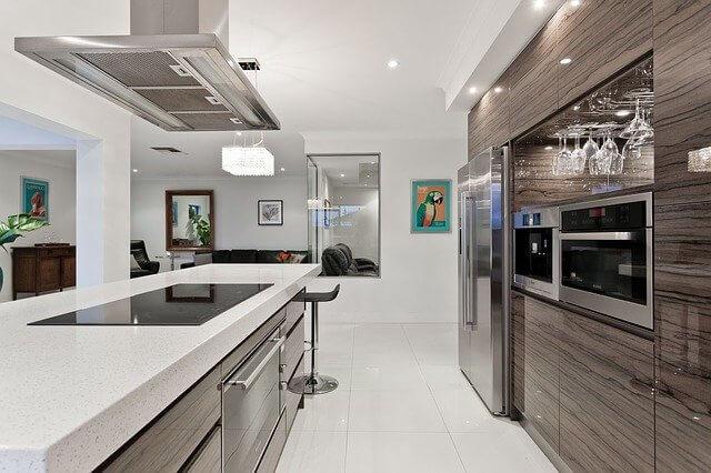 キッチン 冷蔵庫の画像