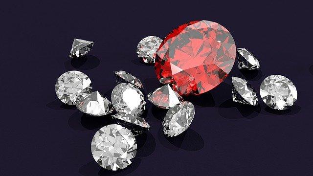 ルビー、ダイヤモンド